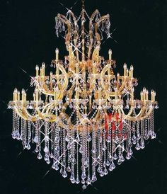 Maria theresa gold crystal candle chandelier decorative chandelier lighting for passage C9159 152cm W x 182cm H
