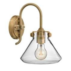 """Hinkley Congress 13"""" High Brushed Caramel Wall Sconce"""