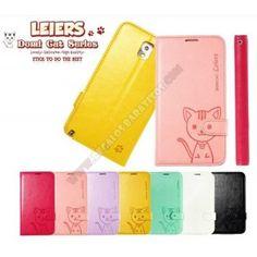 Funda divertida diseño cartera gato Galaxy Note 3