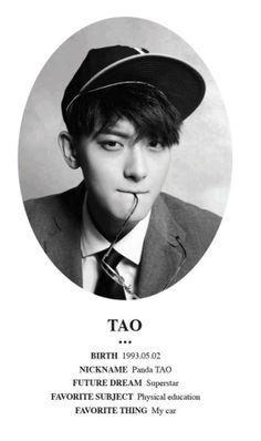 #EXO XOXO Information about Tao ♡