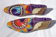 Mosaic Madness, Shoe Tree, Painted Shoes, Birkenstock, Sandals, Wooden Shoe, Crafts, Shopping, Vintage