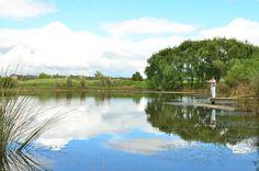 pesca con mosca en las lagunas de Carmelo Golf
