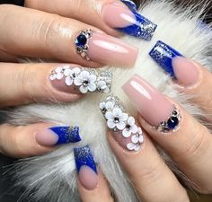 22 ideas nails acrilico elegantes azul for 2019 Creative Nail Designs, Beautiful Nail Designs, Beautiful Nail Art, Acrylic Nail Designs, Nail Art Designs, Blue Nails, My Nails, Red Nail, Pastel Nails
