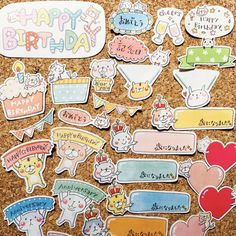 バースデーフレーク⭐️アルバムクラフトや日記・手帳、誕生日のお祝いにペタっと