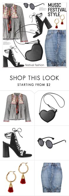 """Show Time: Best Festival Trend"" by spenderellastyle ❤ liked on Polyvore featuring Senso, Moschino and festivalfashion"