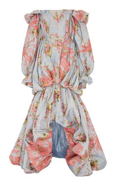 French Jacquard Gown by ZAC POSEN for Preorder on Moda Operandi