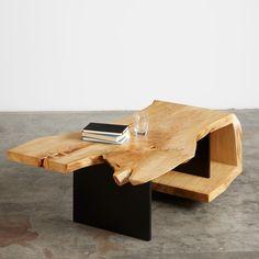 American elm and steel fold coffee table #UrbanHardwoods #SalvagedWood