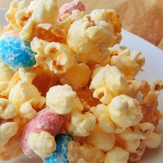 """Malted White Chocolate Popcorn with Robin's Eggs 