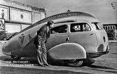 Arrowhead Teardrop car, designed by W. Everett Miller and constructed by the Advance Body Company in Los Angeles.
