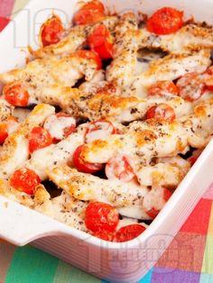 Рецепта за Патладжани с пилешко и чери домати на фурна - начин на приготвяне, калории, хранителни факти, подобни рецепти