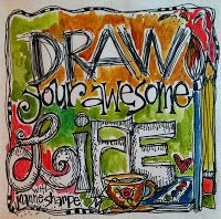 "NOW OPEN! ""DRAW YOUR AWESOME LIFE"" - so many neat journal pages here!"