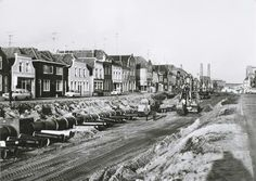 De demping van de haven. De Noordhaven bij bakker Van Eekelen en richting suikerfabriek