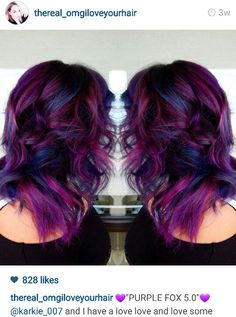 Vivids balayage hair, purple balayage, pink ombre hair, blue and red ha Turquoise Hair Color, Funky Hair Colors, Red Purple Hair, Hair Dye Colors, Cool Hair Color, Violet Hair, Colourful Hair, Balayage Hair, Ombre Hair