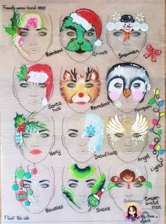 66 ideas painting face kids christmas crafts face painting for christmas paint girl of grand junction Girl Face Painting, Belly Painting, Painting For Kids, Face Paintings, Face Painting Tutorials, Face Painting Designs, Paint Designs, Diy Christmas Garland, Christmas Crafts For Kids