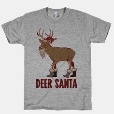 Deer Santa #deer #hunting #santa #christmas #sweatshirt #winter #hunting #holiday #party