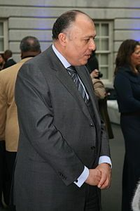 Sameh Shoukri From Wikipedia, the free encyclopedia. EqyptMinister of Foreign Affairs.