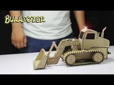 In this video I want to show you How to make a Truck-Bulldozer Out of Cardboard at Home. Actually it is very amazing and powerful Bulldozer for you. Cardboard Car, Cardboard Crafts, Helicopter Craft, Cultura Maker, Diy Toys Car, Paper Roll Crafts, Toy Trucks, Recycled Crafts, Wooden Toys