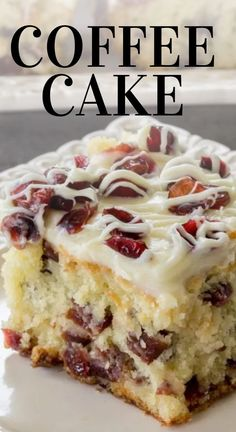 13 Desserts, Dessert Recipes, Delicious Cake Recipes, Homemade Desserts, Health Desserts, Breakfast Cake, Breakfast Dishes, Food Cakes, Cupcake Cakes
