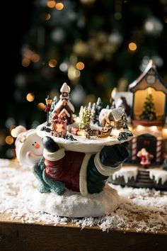 Led Snowman With Village : Spread even more festivity throughout your home this winter by adding this wonderful village scene. Christmas Gingerbread, Cozy Christmas, Christmas Colors, Christmas 2019, Gingerbread Cookies, Christmas Gifts, Christmas Decorations, Xmas, Types Of Lighting