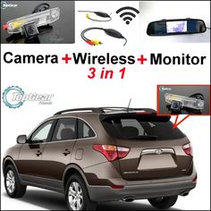 66.27$  Watch now - http://ali6ug.worldwells.pw/go.php?t=32469326812 - 3 in1 Special Rear View Camera + Wireless Receiver + Mirror Monitor Easy DIY Backup Parking System For Hyundai Veracruz ix55 66.27$
