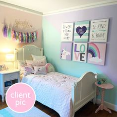 Girls Room Paint, Girls Bedroom Colors, Girls Room Design, Girl Bedroom Walls, Big Girl Bedrooms, Girl Bedroom Designs, Room Ideas Bedroom, Little Girl Rooms, Colorful Girls Room