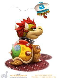 Daily+Painting+1731#+Internet+Bowser+by+Cryptid-Creations.deviantart.com+on+@DeviantArt
