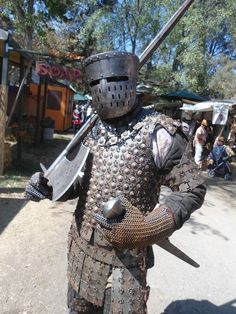 Late 12th cen. Knight. Tons of work to go not done at all with this armor. This was just a test run and ran out of steel. :(