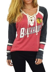 Touch by Alyssa Milano Chicago Blackhawks Hat-Trick Hockey Jersey | SportyThreads.com