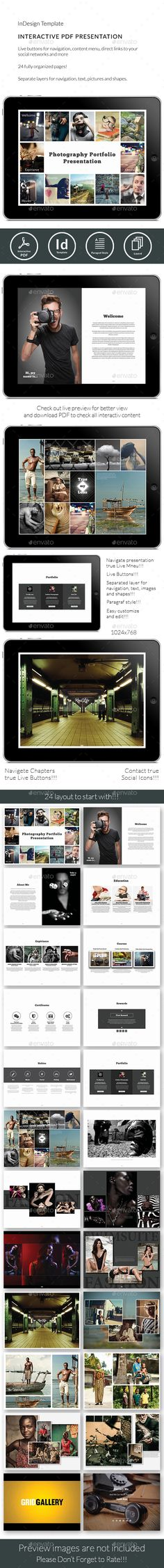 Tablet Interactive PDF Photographer Portfolio No7 by Milos83 Tablet Interactive PDF Photographer Portfolio No7 Great way to present your work true interactive PDF! You can use this templat