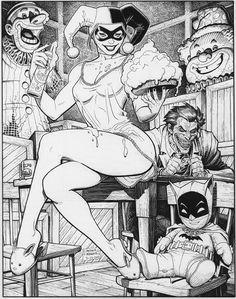 Harley Quinn and the Joker by Arthur Adams