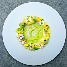 Halibut ceviche Avocado Orange Pineapple ...beautiful dish by @cheflangdon13 #soignefood Follow us 4 the finest food fotos FIRST by soignefood