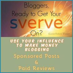 Build your profile & get noticed by brands! Connect with Sverve now & get paid #Sverve #GetPaid #MakeMoney #bloggers #blogging #review #free #EarnMoney #EBTheory