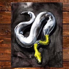 This one doesn't bite and won't support illegal animal trade and import. Ready for your walls. ---- #fathersday #fathersdaygift #dad #dadgift #dadgifts #snake #art #animalart #natureart #illegaltrade #illegalanimaltrading #tropical #wallart #painting #etsyart