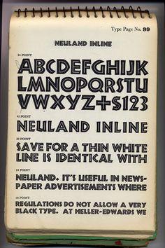 Rudolf Koch - specimen of Neuland 1922/1923