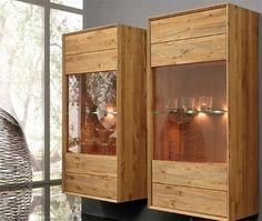 Rustic contemporary display case.