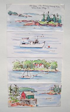 Lovely quick sketch.  Well they look quick I think they are GREAT!  Sketchbook Wanderings. Lovely watercolors throughout.