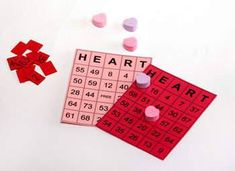 These creative valentine bingo cards can be printed off for any number of children. The cards refresh on the screen with random numbers. A great idea if you need a game for a school class party.View This Tutorial