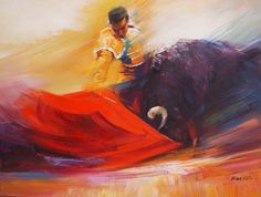 Painting of a Matador bull fighter