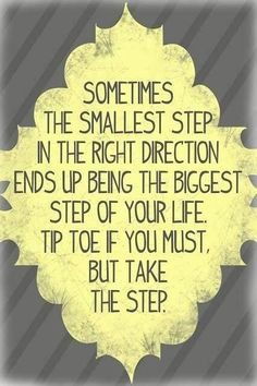 Need to take that step
