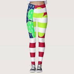 #Funny Irish Shamrock American Flag #StPatrick Party #Leggings