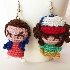 Stranger Things amigurumi earrings crochet by MrsPoppyAmigurumi