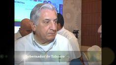 Fotografía de la entrevista al Gobernador de Tabasco