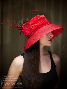Red Hat Kentucky Derby Hat Sun Hat. , via Etsy.