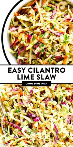 Slaw Recipes, Veggie Recipes, Mexican Food Recipes, Cooking Recipes, Healthy Recipes, Vegetarian Mexican, Delicious Salad Recipes, Recipes With Cilantro, Summer Vegetarian Recipes