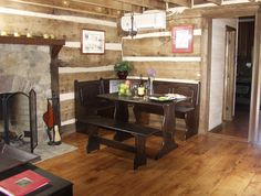 DelFosse winery log cabin.  Near Charlottesville, Virginia