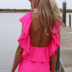 Love the backless dress! If I only had the pretty hair to go with it...