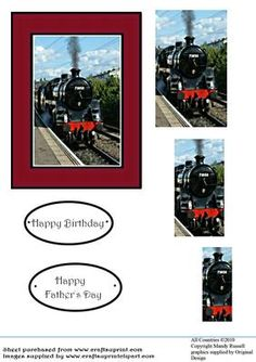 Easy Pyramid Steam Train Photo  on Craftsuprint designed by Mandy Russell - Easy Pyramid Steam Train Design Sheet With Text Toppers - Now available for download!