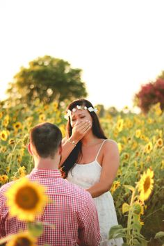 Tyler & Jessica's Sunflower Surprise Proposal | Mid-South Bride
