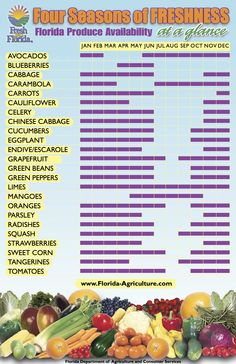 Florida Produce Season   Florida_Produce_Seasonal_Availability_Chart