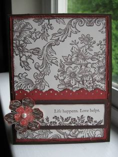 Bella Toile Card by wendyluvs2stamp - Cards and Paper Crafts at Splitcoaststampers